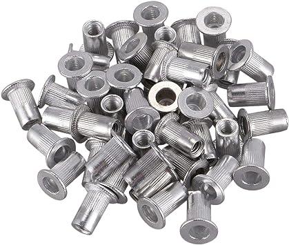 uxcell M4x10mm Stainless Steel Threaded Blind Rivet Nut Insert Nutserts 50pcs