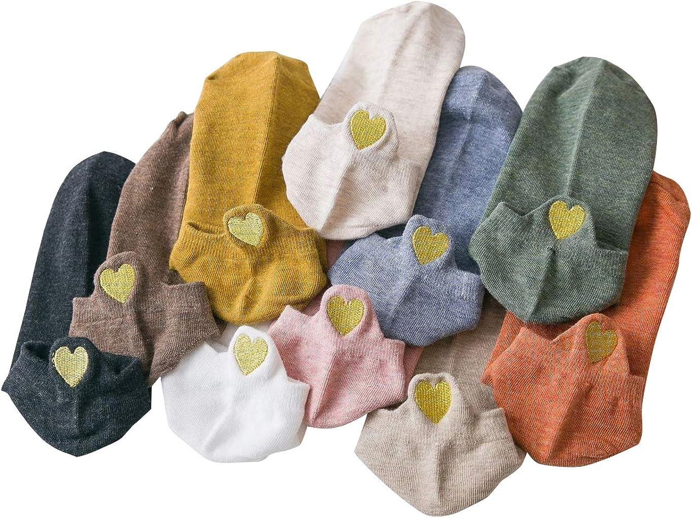 10 Paar Yidarton Damen Socken Baumwolle Komfortabel Netter Cartoon Bestickte Lustig kurz Frauen Socken