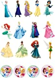 17 Stand Up Mixed Princess Edible Premium Wafer Paper Cake Toppers - 13 Different Princesses
