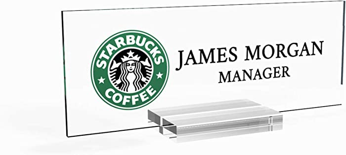 "Personalized nameplate Desk Decor Office Unique Gift Custom Logo tech Desk Custom Name Plate for him and her Occasion Gift (8""x2.5"")"