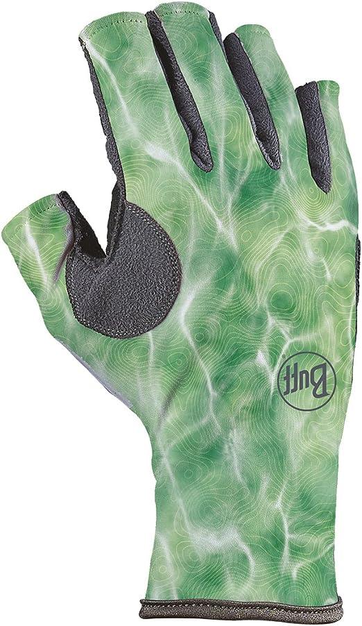 Glacier Glove Islamorada Fingerless Sun Gloves Green Water Camo