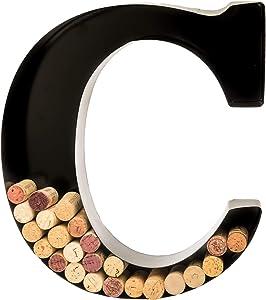 Wine Cork Holder - Metal Monogram Letter (C)