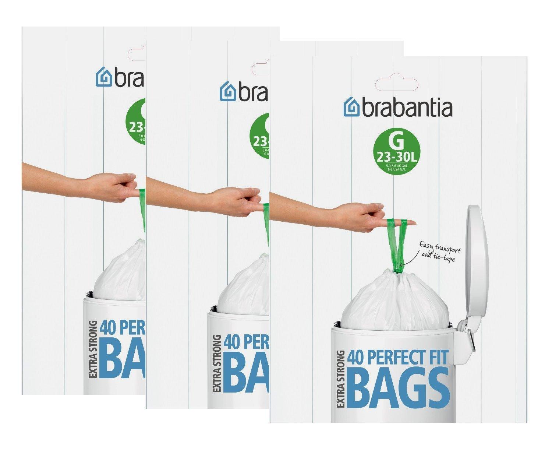 Brabantia Müllbeutel-Spenderpackung, 23-30 Liter, 40 Stück (2 Pack) 40 Stück (2 Pack)