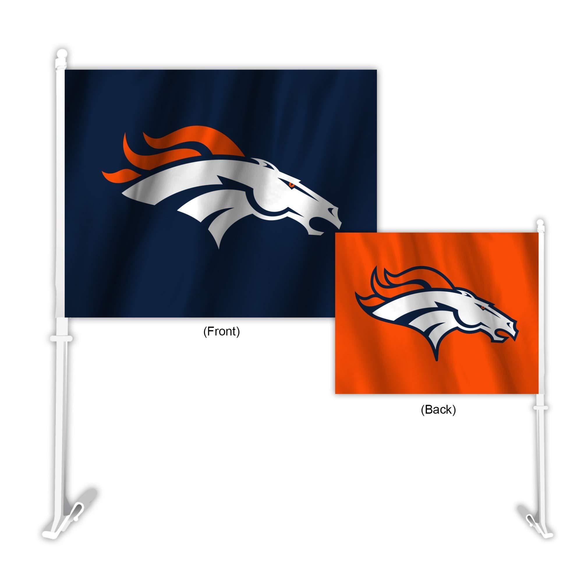 Fremont Die NFL Denver Broncos Home & Away Car Flag