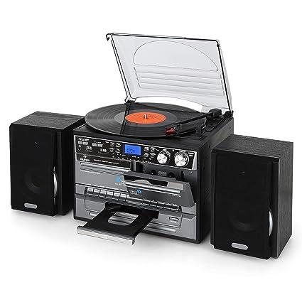 Auna TC-386 - Equipo de música Tocadiscos , Minicadena Hi-fi ...