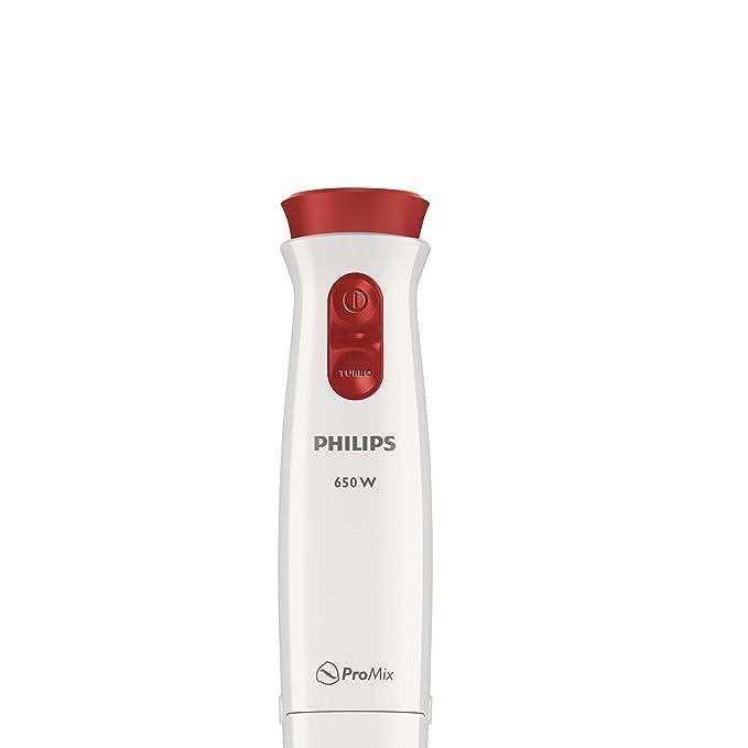 Philips Daily HR1621/00 - Batidora de Mano, 650 W, Jarra de 0.5 L, Varilla Metálica, Color Blanco: Amazon.es: Salud y cuidado personal