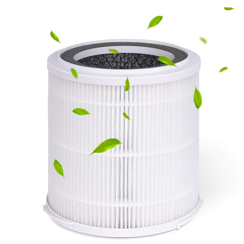 INTEY Filtro HEPA - Carbone Attivo, Filtro Sostitutivo Purificatore d'Aria NY-BG55, 99,98% di Filtraggio, 165 * 166mm