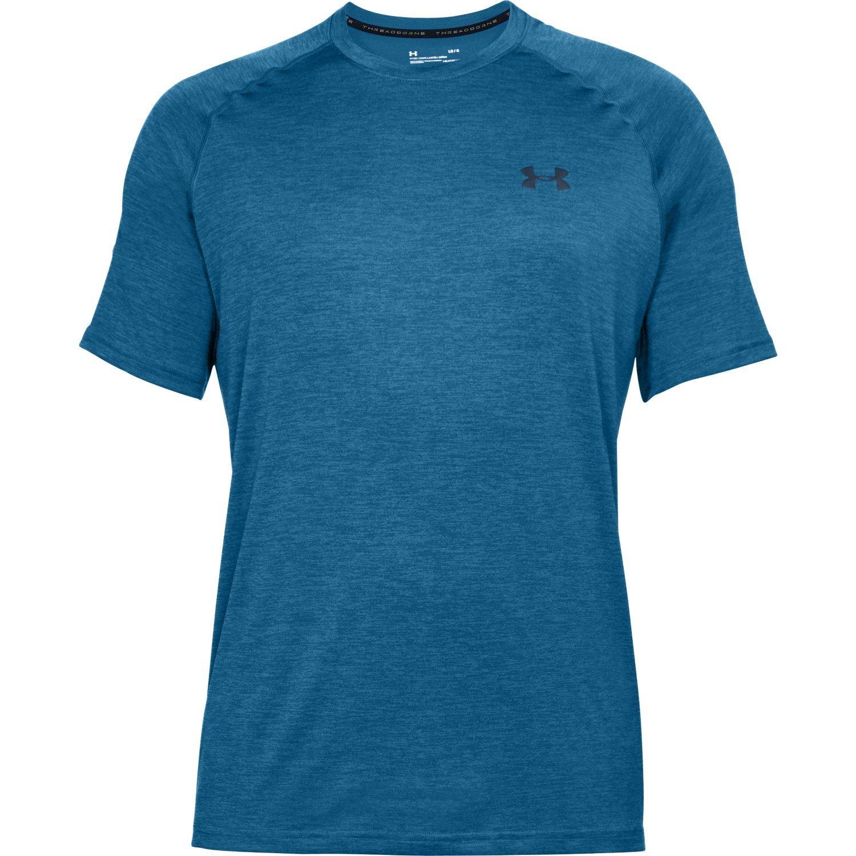Under Armour Men's Tech Short Sleeve T-Shirt, Moroccan Blue (487)/Academy, Small