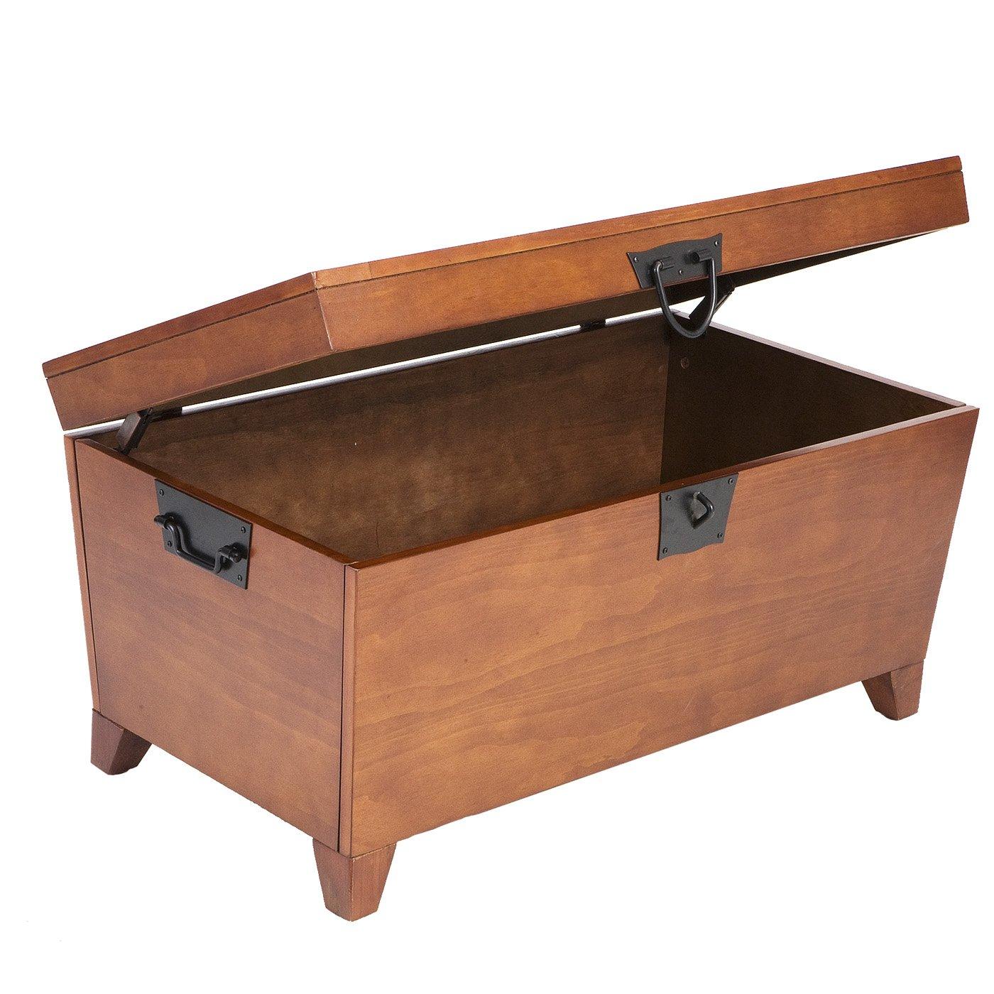 Amazon wood storage coffee table oak finish kitchen dining geotapseo Images
