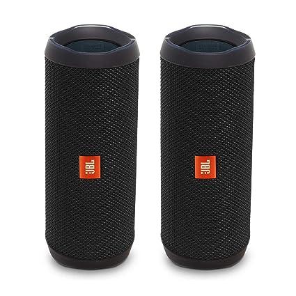 JBL Flip 4 Portable Waterproof Bluetooth Speaker - Pair - Black (Factory  Renewed)