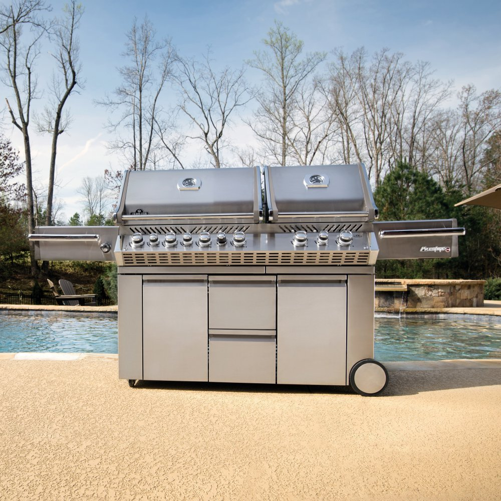 Napoleon Grills Prestige PRO 825 with Power Side Burner and Infrared Rear and Bottom Burners Propane Gas Grill