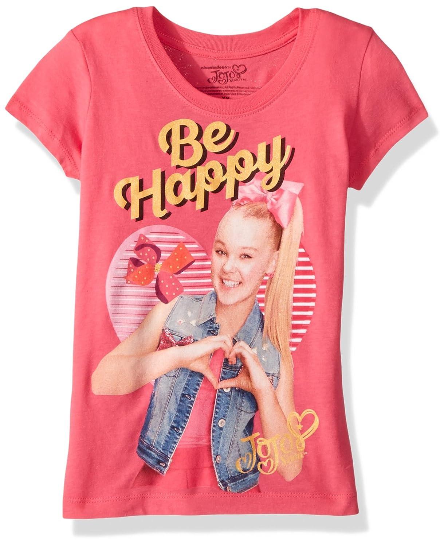 830a5f2ef4fde Amazon.com: Jojo Siwa Girls' Little Happy Short Sleeve T-Shirt: Clothing