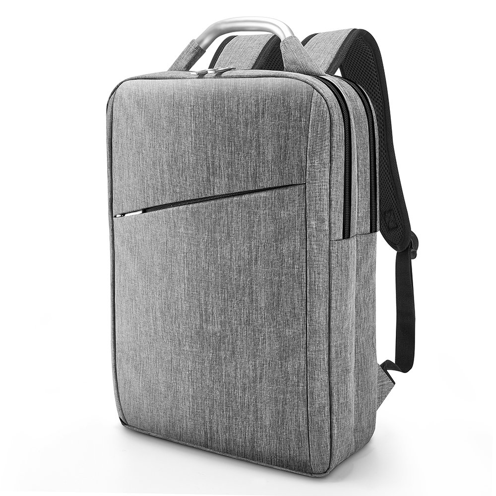 Business Laptop Backpack, Slim Durable College School Backpack for Men and Women, Lightweight Travel Computer Bag Fits under 15.6 inch Laptop and Notebook (Gray)