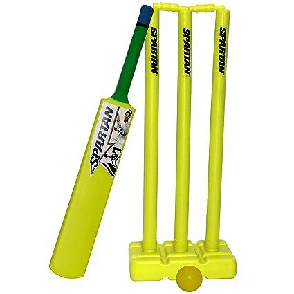 7c0983233 Buy Spartan MS Dhoni Plastic Cricket Combo Set (SPC8-MSD-PCC-6 ...
