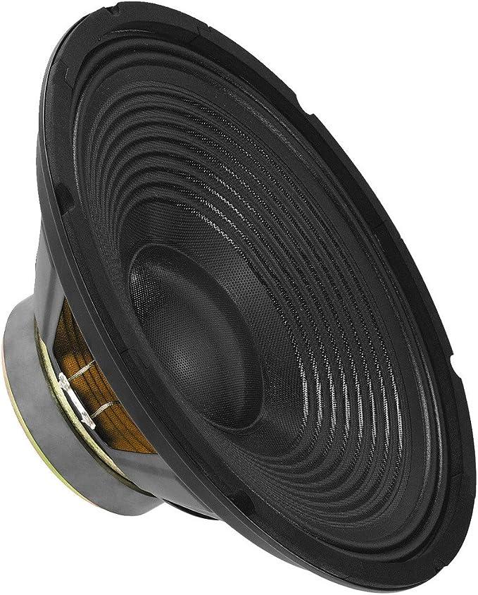 Monacor Sp 302pa Universal Tieftöner Mit 100 Watt Nennbelastbarkeit Und Einer Impedanz Von 8 Ohm Bass Lautsprecher Mit Einer Größe Von 12 Zoll In Schwarz Musikinstrumente