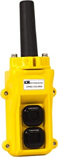 product image for KH Industries CPH02-D00-000A 2 Push Buttons Pendant Control Switch, Two Speed