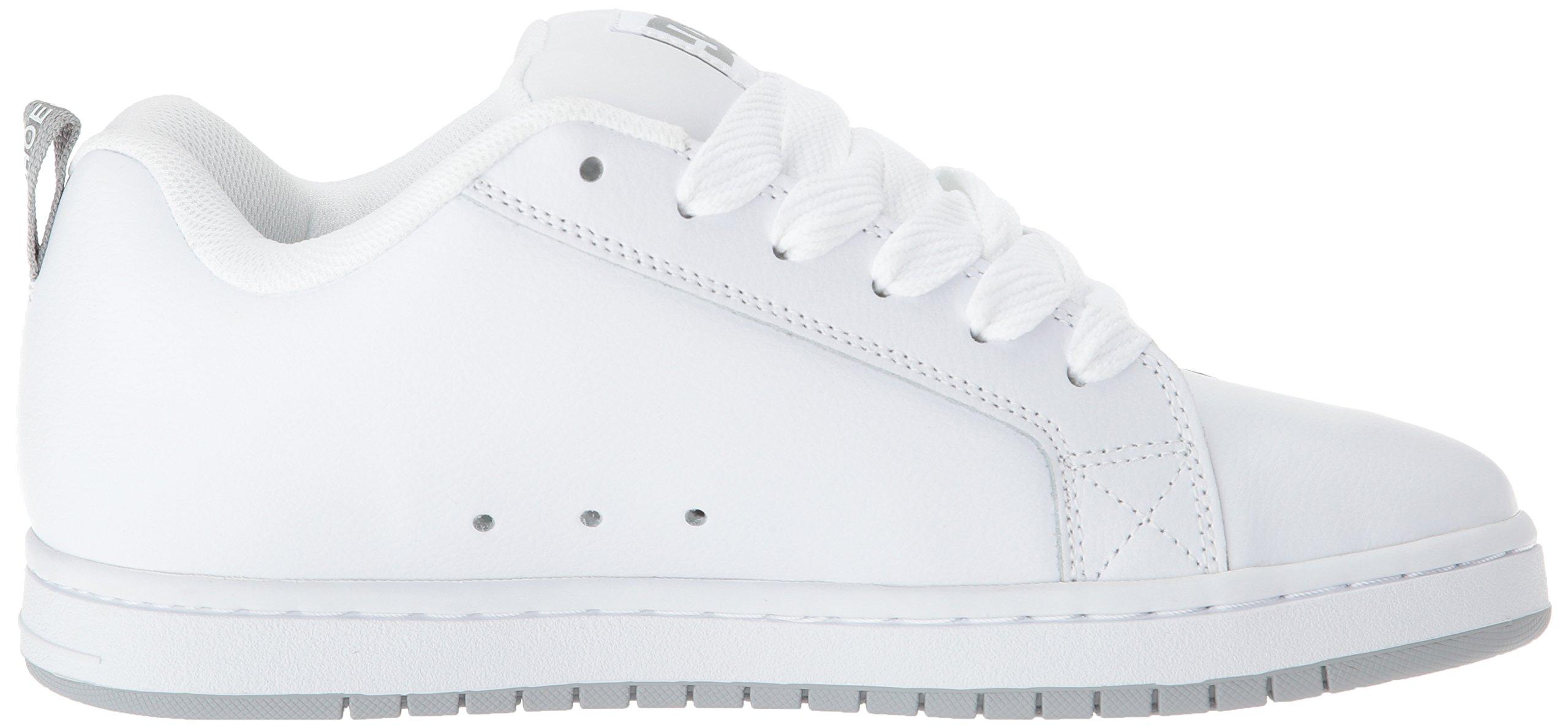 DC Men's Court Graffik SE Skate Shoe White Grey, 15 Medium US by DC (Image #6)
