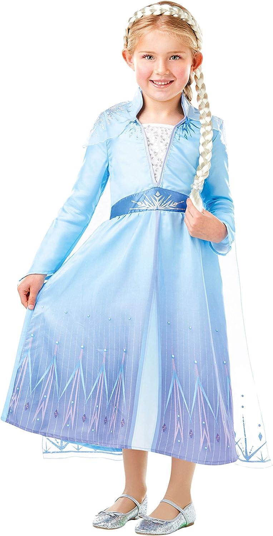 Disney Disfraz Vestido con Trenza para Niñas El Reino del Hielo ...