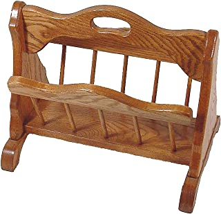 product image for Oak Storage Rack with Handle - Amish Made in USA