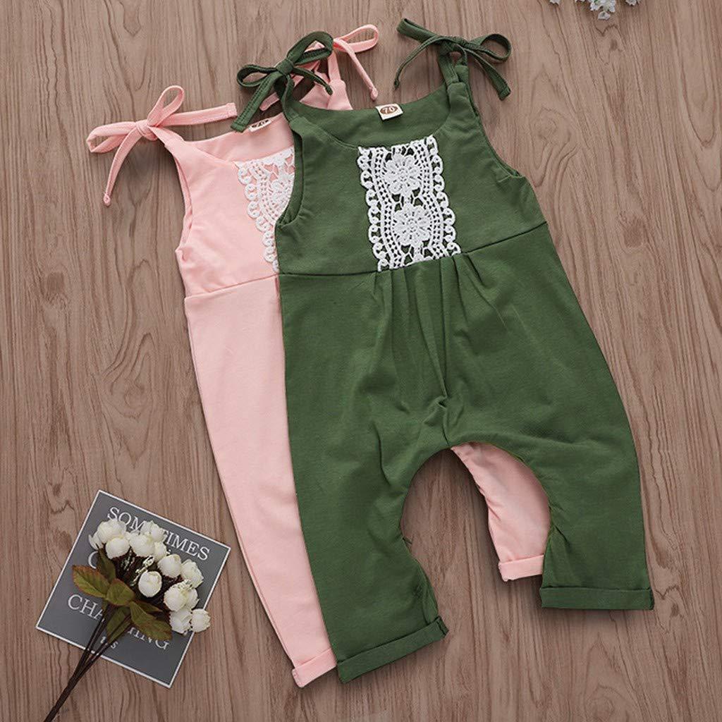MISSWongg/_Babykleidung Baby Kinder M/ädchen Jumpsuit /Ärmellos Solid Floral Overall Strampler M/ädchen Outfits Kleidung
