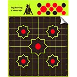 JingZhouYang - Reusable Splash Shooting Target, 10 x 10inch self-Adhesive Fluorescent Yellow Aiming Target for Indoor and Out