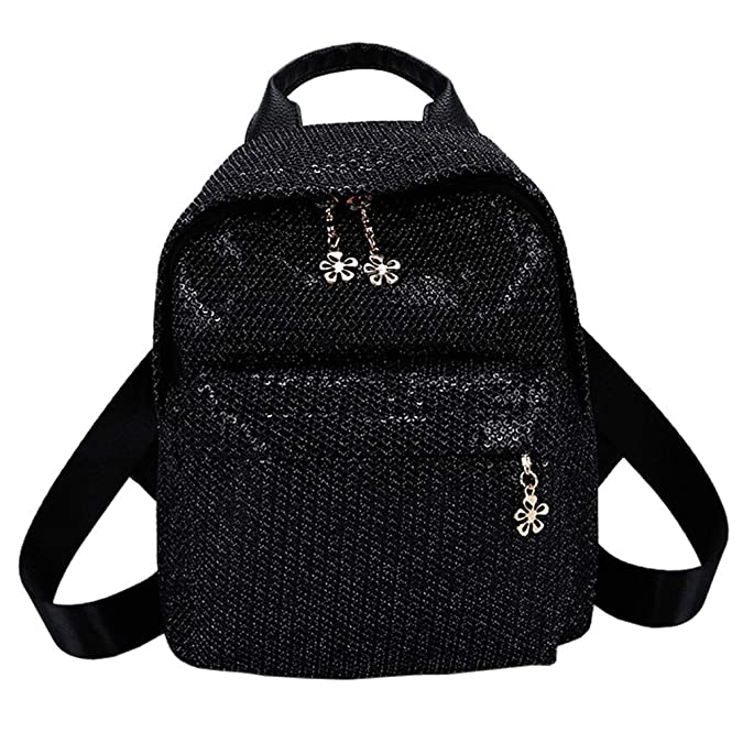 Amazon.com: Ladies Small Backpack Purse Bling Sequins Backpack School Bags Satchel Travel Shoulder Bag for Teens Women: Shoes