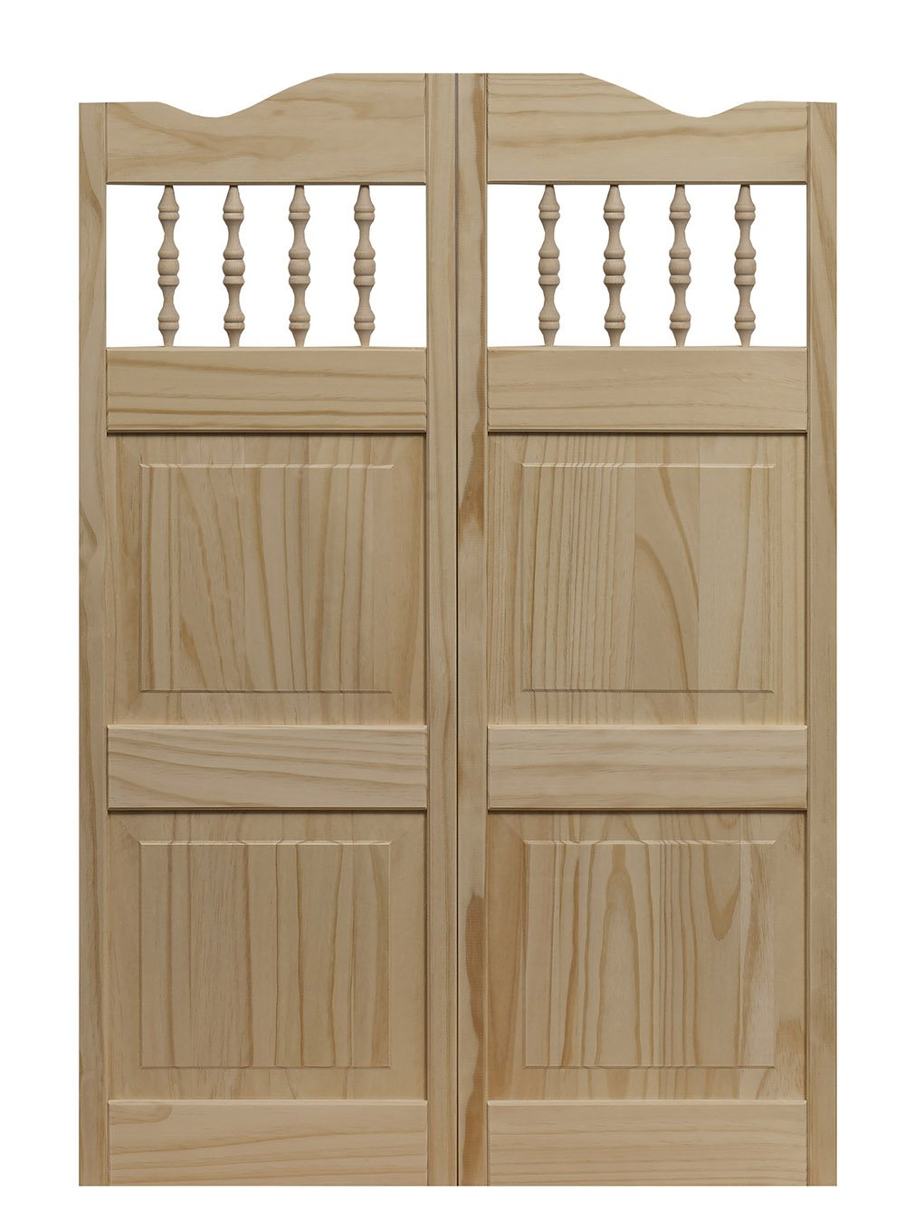 Pinecroft 848442 Carson City Café Interior Swing Wood Door, 24'' x 42'', Unfinished