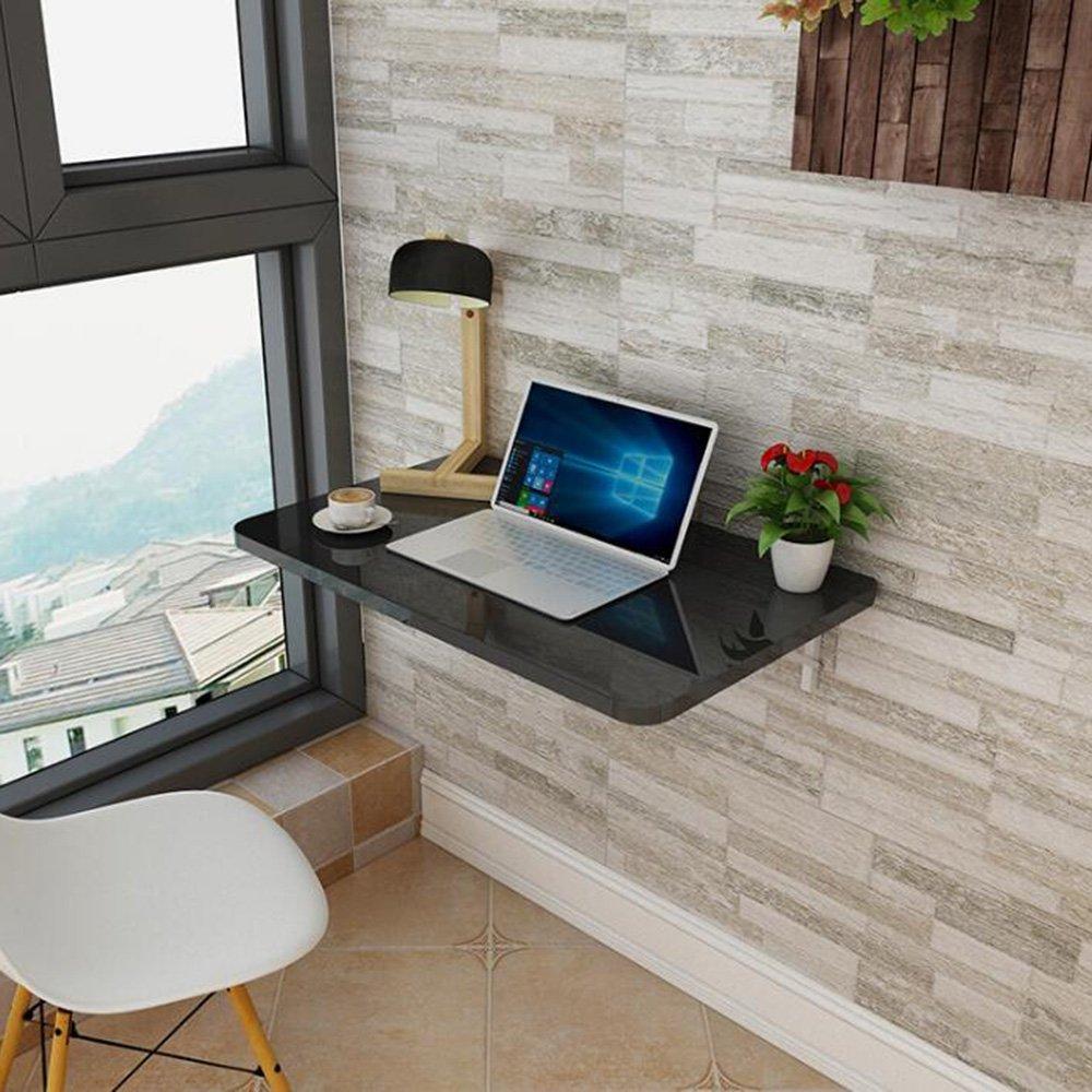 XIAOLIN ベークドペイントウォールマウント折りたたみテーブルダイニングテーブルウォールテーブルコンピュータのデスクブックテーブルオプションの色、サイズ (色 : ブラック, サイズ さいず : 50*30cm) B07DWKRLQP 50*30cm ブラック ブラック 50*30cm