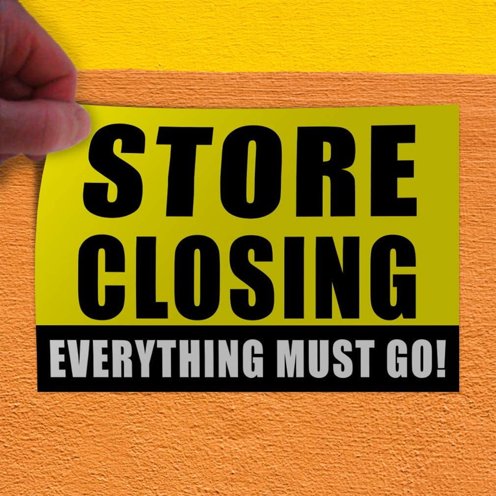 45inx30in, Decal Sticker Multiple Sizes Moving Sale Everything Must Go Business Business Moving Sale Everything Must Go Outdoor Store Sign Yellow