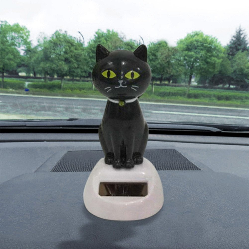 Solar Powered Dancing Toys Swinging Cat Bobble Dancer Toy Car Decor Gessppo