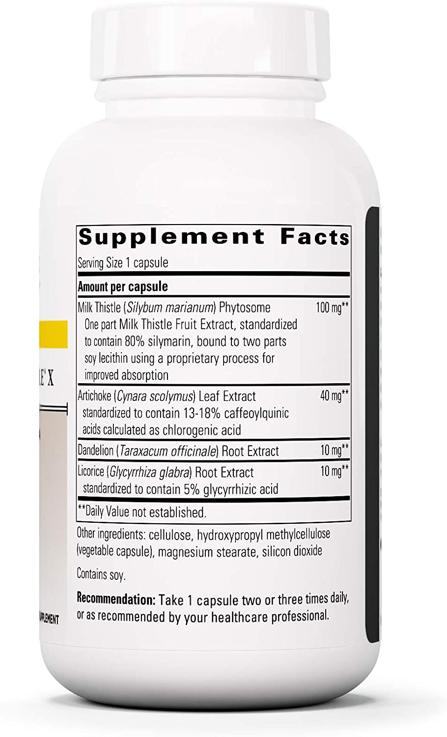 Integrative Therapeutics – Super Milk Thistle X – Liver Support Formula – Blended w Artichoke, Dandelion Lead, Licorice Root Extracts – 120 Capsules