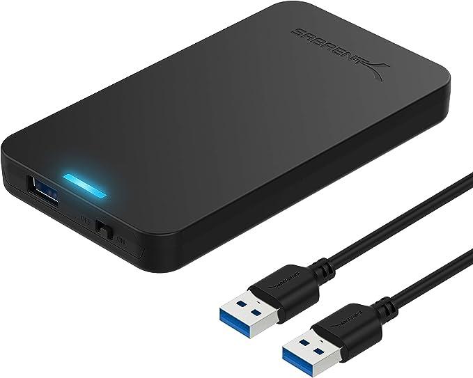 Sabrent Caja de Disco Duro Externo sin Herramientas SATA a USB 3.0 de 2.5 Pulgadas [Optimizado para SSD, Soporte UASP SATA III] Negro (EC-UASP): Amazon.es: Informática