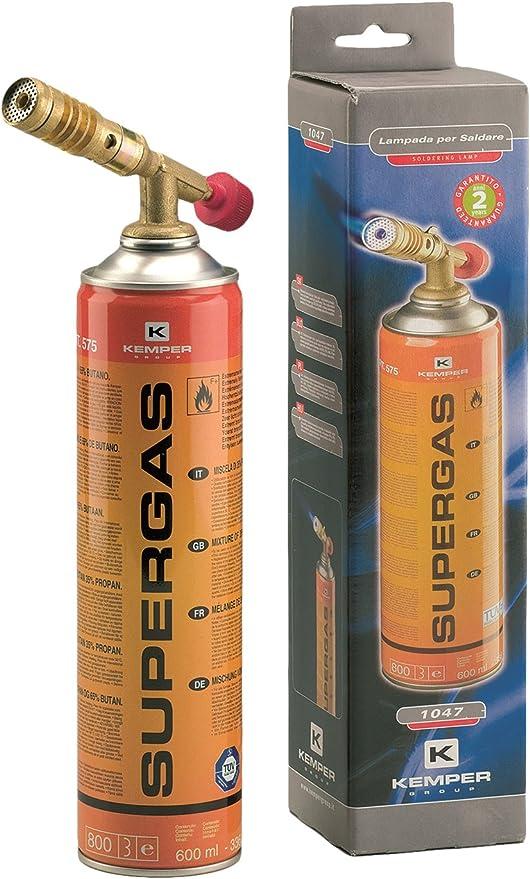 KEMPER 1047 Com Gas 1047-Soldador con Cartucho desechable Incorporado, Multicolor, 6x6x30 cm