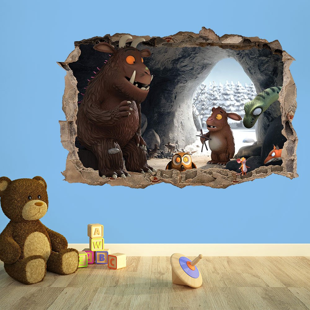 The gruffalo 3d kids wall sticker 3d bedroom boys girls 100cm w the gruffalo 3d kids wall sticker 3d bedroom boys girls 100cm w x 70cm h amazon kitchen home amipublicfo Image collections