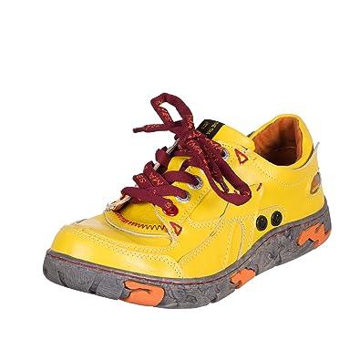 TMA EYES 4167 Schnürer Gr.36-42 mit bequemen perforiertem Fußbett , Leder  super 217f499295