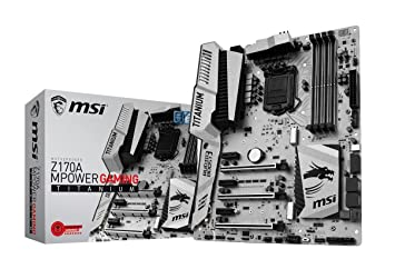 MSI Z170A mPower Gaming Titanium Socket LGA1151 Gaming Motherboard Motherboards at amazon