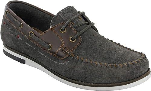 Wrangler Boat Shoes Mens Suede Deck