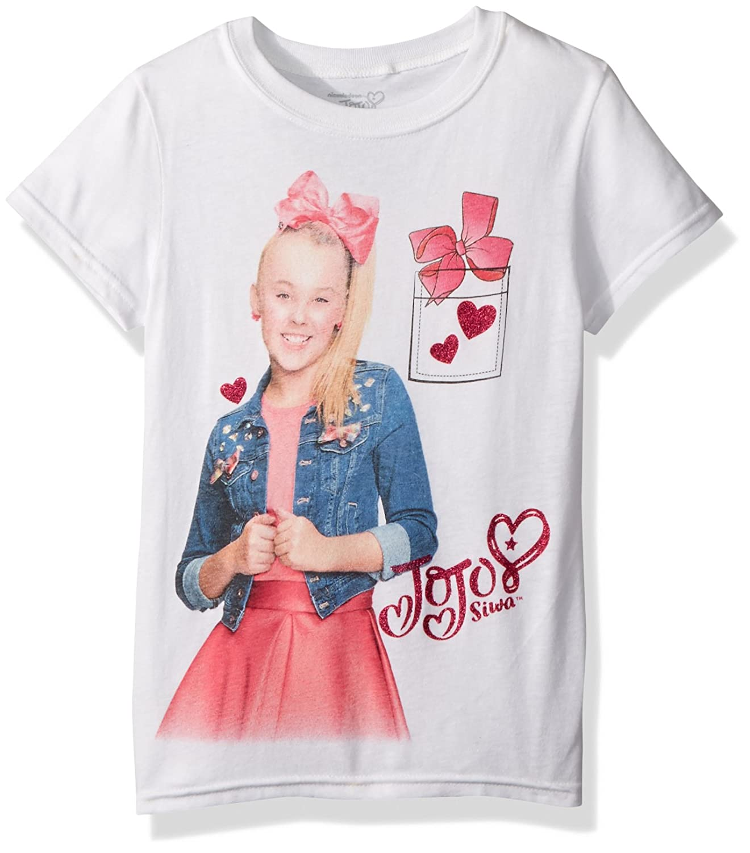 ceb6ceb2091c1 Amazon.com: Jojo Siwa Girls' Little Half Bow Short Sleeve T-Shirt: Clothing
