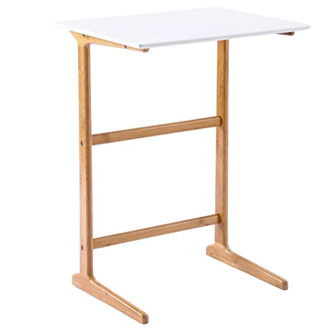 Amazon.com: Wilshine - Mesa alta de bambú: Kitchen & Dining