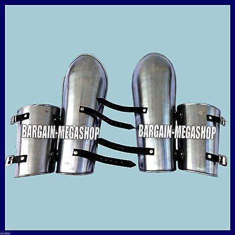 Medieval Leg Guards Pair 16 Gauge Iron Steel Leg Armor Set Greaves Shin Guard