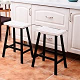 """24"""" Barstool Wood Bar Stools Pub Seat Bar Chair Set of 2 for Kitchen Breakfast Counter Bar Coffee Shop"""
