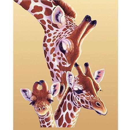 Autumn-Wind DIY 5D Diamond Painting Kits, Giraffe Family Embroidery ...