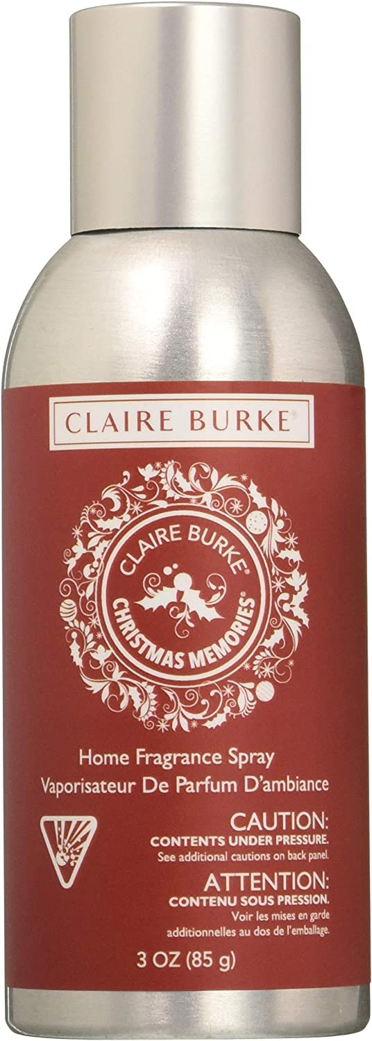 Claire Burke Christmas Memories Spray Kitchen Décor Fragrance/Home Scent, Small, Red