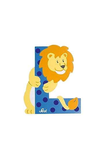 Trudi 81612 - Sevi Tierbuchstabe Löwe L hellblau: Amazon.de: Baby