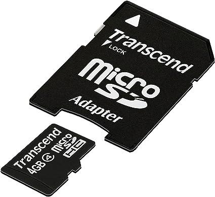 Transcend Micro Sdhc 4gb Class 4 Speicherkarte Mit Computer Zubehör