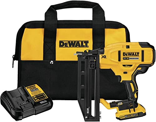 DEWALT DCN662D1 20V Max XR 16 Ga Cordless Straight Finish Nailer Kit