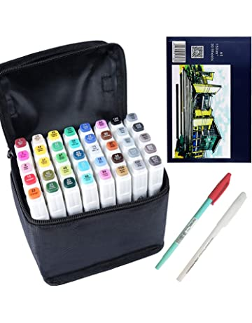 Marker Pen Set Dibujo rotulador Animación Boceto Marcadores Set de doble marcador de punta para el