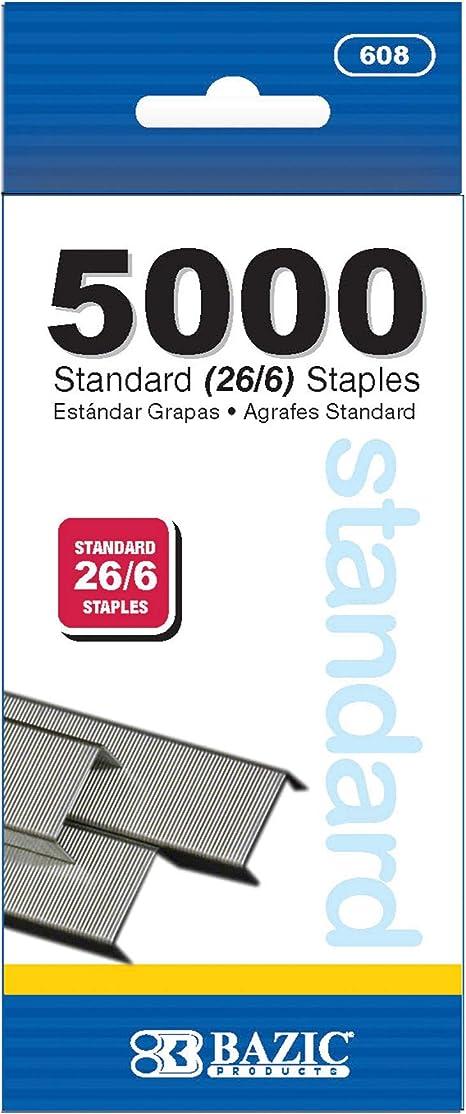 Staples 26//6 5 Star Pack of 5000