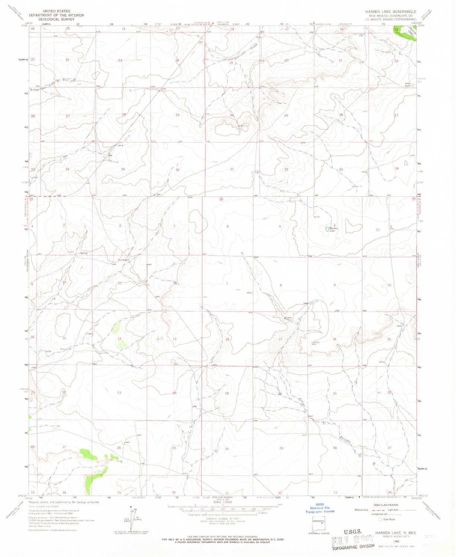 Amazon Com Yellowmaps Harben Lake Nm Topo Map 1 24000 Scale 7 5 X