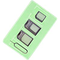Black Nano Sim Adapter and Micro Sim Adapter and Nano to Micro Adapter with a Sim Card Folder and a Needle,pls Place in Wallet Help You Use It Anytime